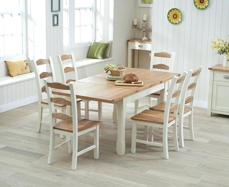 Cream Dining Table Amazing Buy Mark Oak And Cream Extending Cream For Cream And Oak Dining Tables (Image 11 of 25)