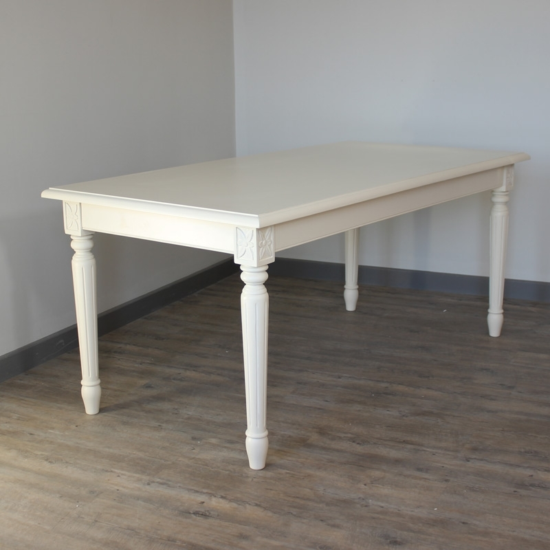 Cream Dining Table – Melody Maison® For London Dining Tables (Image 10 of 25)