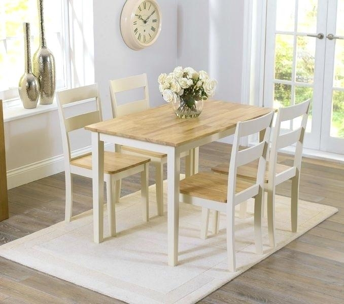 Cream Dining Table Trendy Cream Dining Table Set 4 Kitchen For Small Inside Cream Dining Tables And Chairs (View 6 of 25)