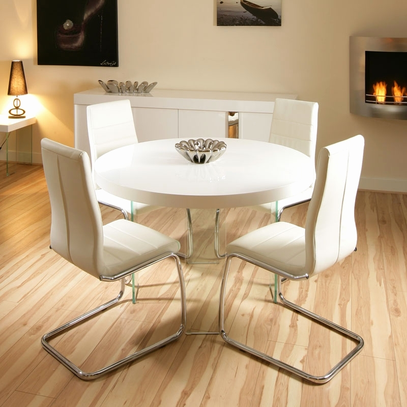 Cream Gloss Dining Table And Chairs Luxury Interior Small Round Pertaining To Cream Gloss Dining Tables And Chairs (Image 5 of 25)