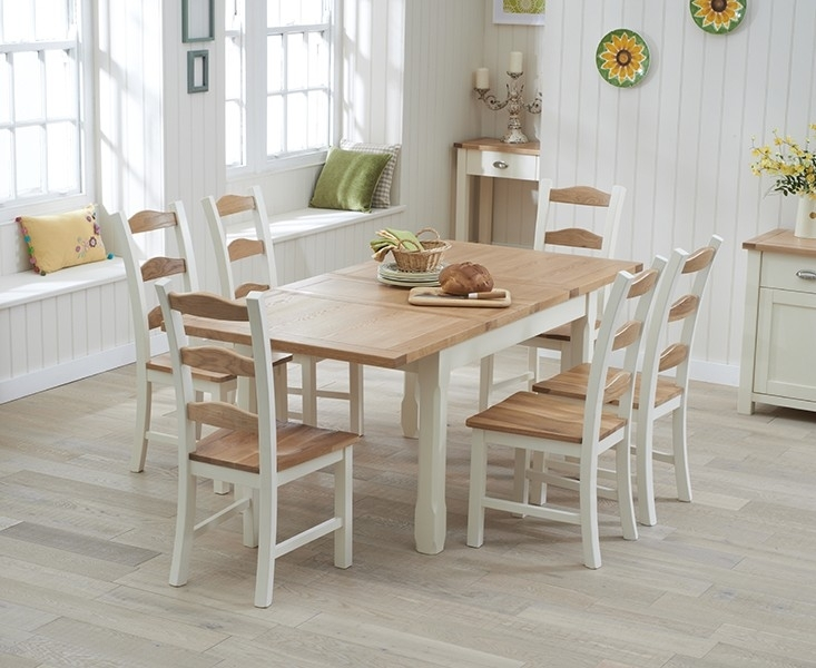 Cream Kitchen Tables – Home Design Ideas Within Cream And Wood Dining Tables (Image 8 of 25)