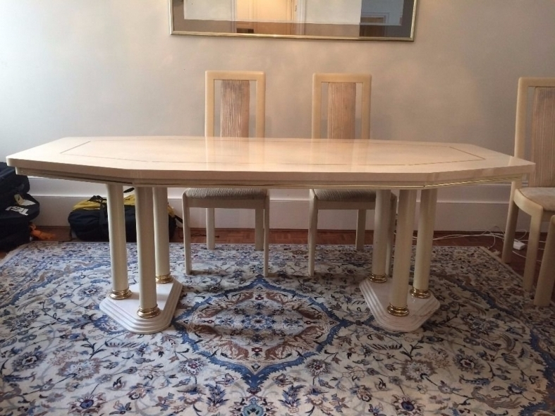 Cream Lacquer Dining Table | Table Designs And Ideas Pertaining To Cream Lacquer Dining Tables (Image 8 of 25)