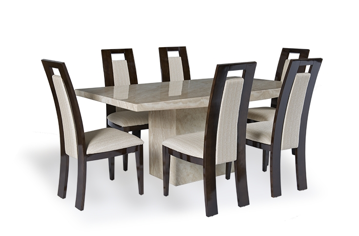 Cream Marble Dining Table Set – Allied Home Interiors With Marble Effect Dining Tables And Chairs (Image 4 of 25)