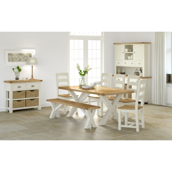 Cream Oak Dining Set Within Cream And Oak Dining Tables (Image 12 of 25)
