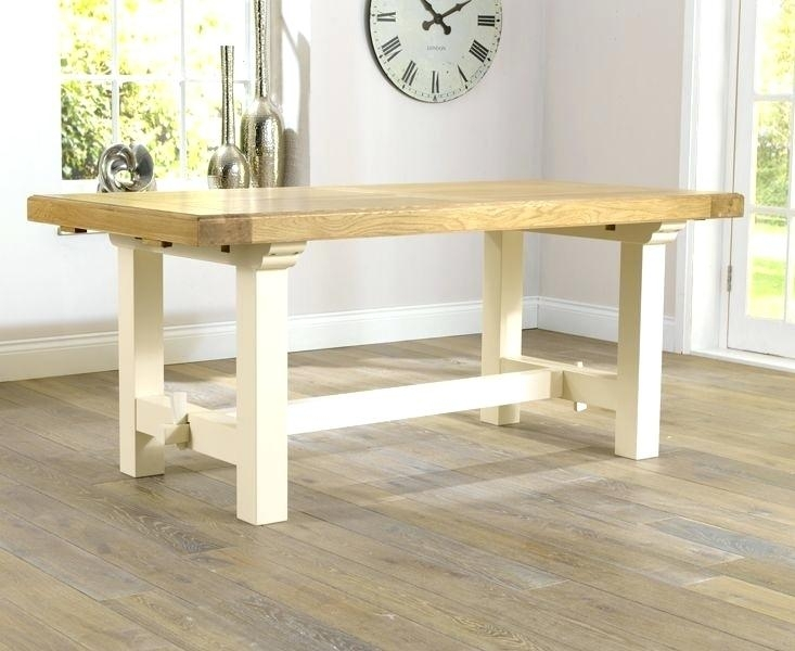 Cream Oak Dining Table And Chairs Somerset 180Cm Extending With Intended For Cream And Oak Dining Tables (View 19 of 25)