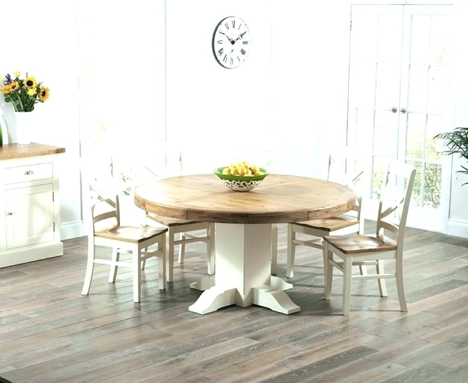 Cream Round Dining Table Cream Round Table Small Oak Dining Table For Cream And Wood Dining Tables (Image 9 of 25)