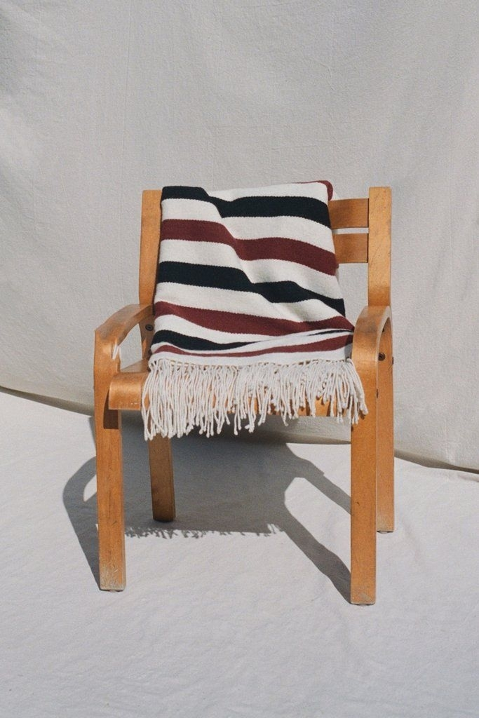 Cream, Rust & Black Striped Pampa Blanketmexchic | Home (View 14 of 25)
