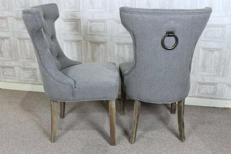 Cream Studded Ring Back Dining Chair Chairs Ireland – Home Simple With Regard To Button Back Dining Chairs (Image 11 of 25)
