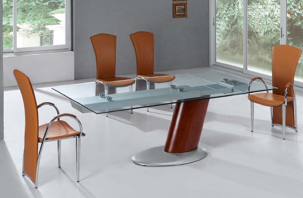 Create A Unique Look With Glass Top Dining Table Within Contemporary Extending Dining Tables (Image 8 of 25)