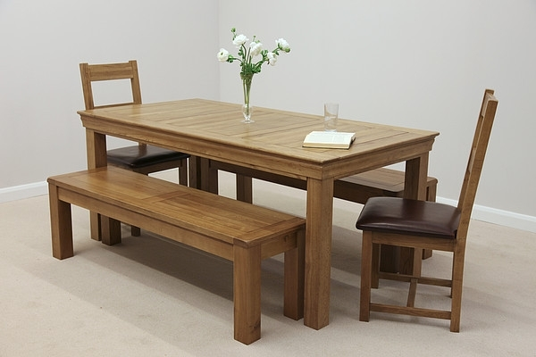 Creative Design Oak Benches For Dining Tables 73 – Strawberryperl Intended For Dining Tables And 2 Benches (Image 11 of 25)