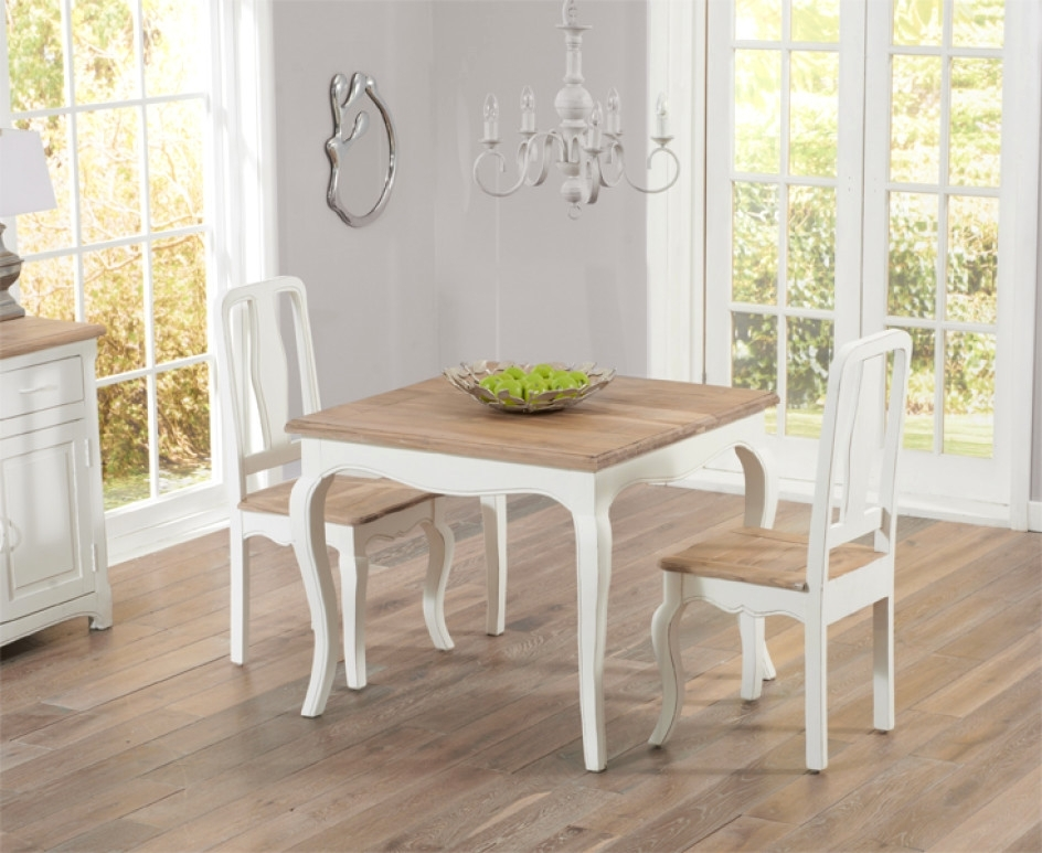 Creative Parisian 90Cm Shabby Chic Dining Table With Chairs – Shabby Regarding Shabby Chic Dining Sets (View 21 of 25)