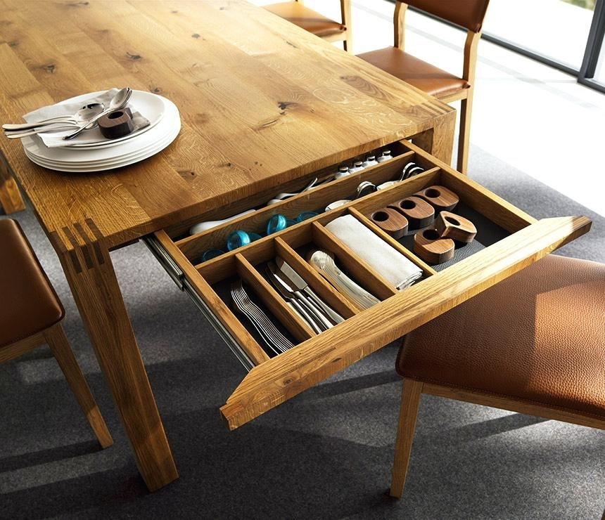 Creative Real Wood Dining Table Sets Minimalist Expandable Dining Pertaining To Solid Dark Wood Dining Tables (View 25 of 25)
