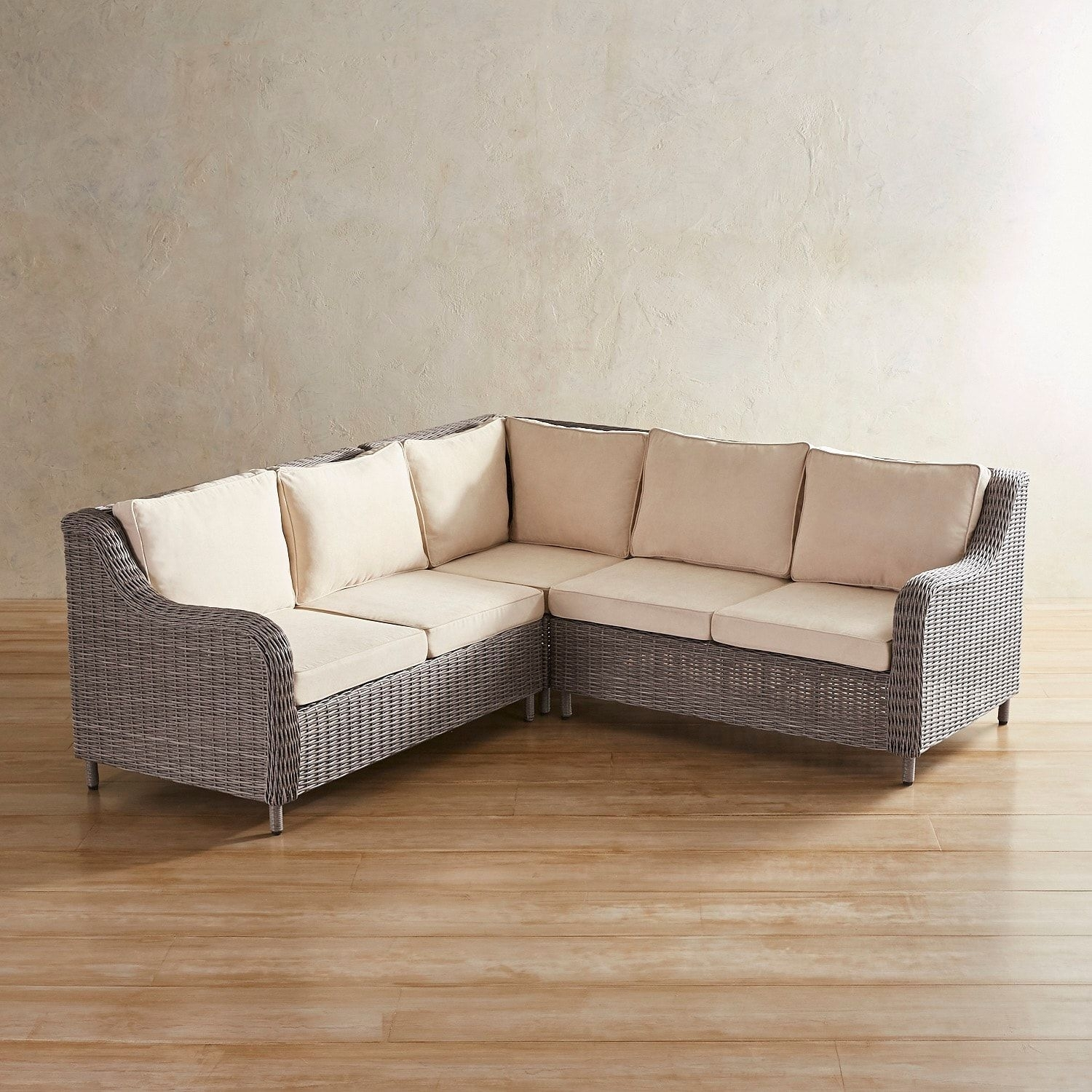 Crestview Gray 3 Piece Sectional | *patio Furniture > Sectionals Intended For Blaine 3 Piece Sectionals (Image 9 of 25)