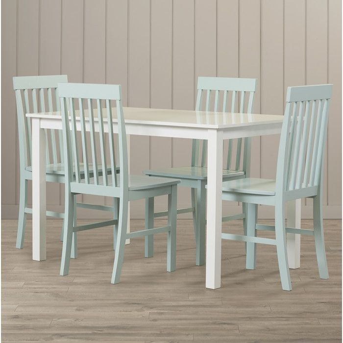 Croley 5 Piece Dining Set Pertaining To Jameson Grey 5 Piece Counter Sets (Image 8 of 25)