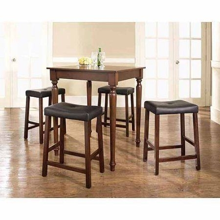 Crosley 5 Piece Counter Height Pub Set, Brown | Pub Sets | Pinterest Regarding Rocco 9 Piece Extension Counter Sets (Image 8 of 25)