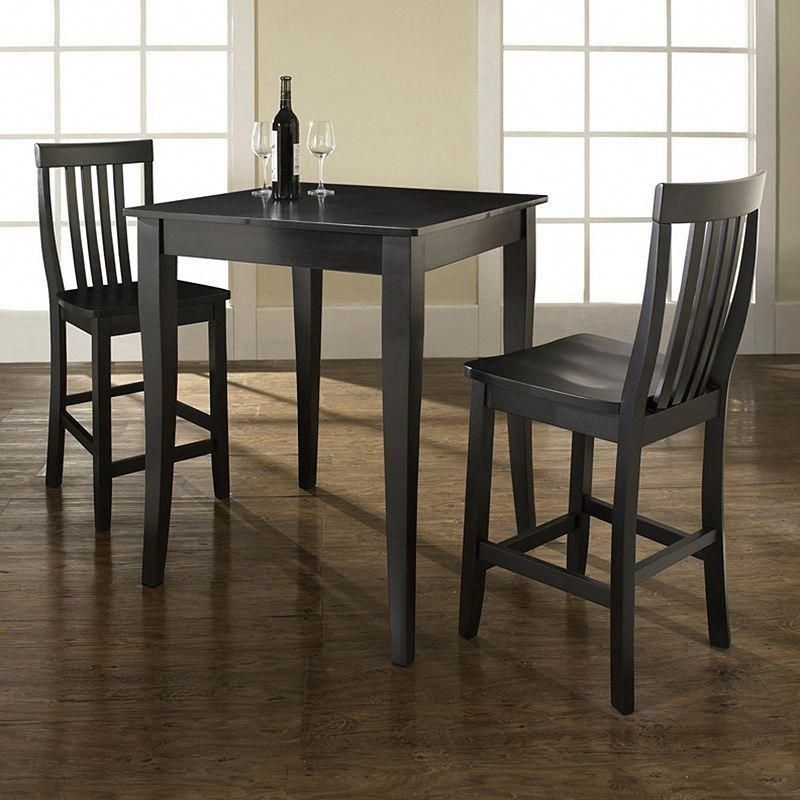 Crosley Furniture 3 Piece Cabriole Dining Set, Black #pubsets For Palazzo 3 Piece Dining Table Sets (Image 9 of 25)