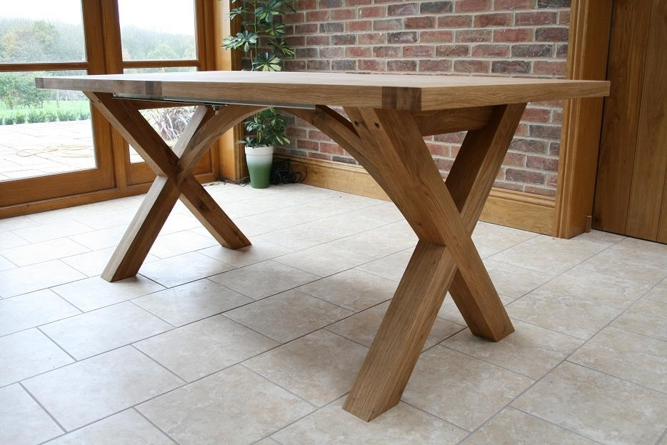 Cross Leg Dining Tables | Extending X Leg Tables | Oxbow Table Pertaining To Extending Oak Dining Tables (Image 4 of 25)