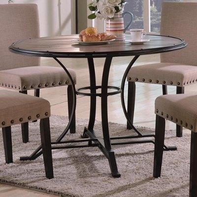 Crown Mark Dining Tables Wyatt 1260T 45 Dft (Round) From Laskey's With Wyatt Dining Tables (Image 2 of 25)