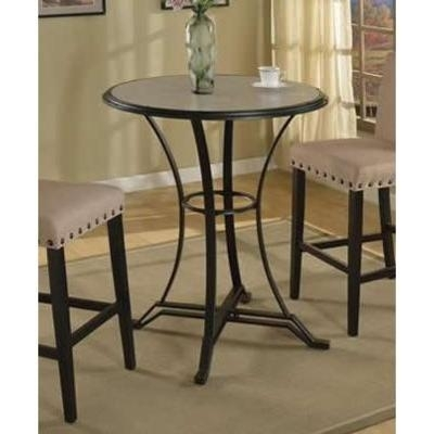 Crown Mark Dining Tables Wyatt 1960T 35 Dft Bar Table (Round) From For Wyatt Dining Tables (View 21 of 25)