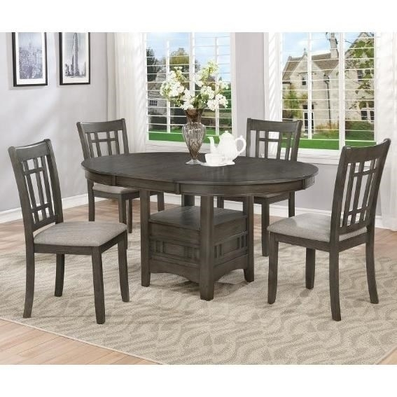 Crown Mark Hartwell Five Piece Dining Set | Royal Furniture | Dining Inside Jaxon 5 Piece Round Dining Sets With Upholstered Chairs (Image 8 of 25)