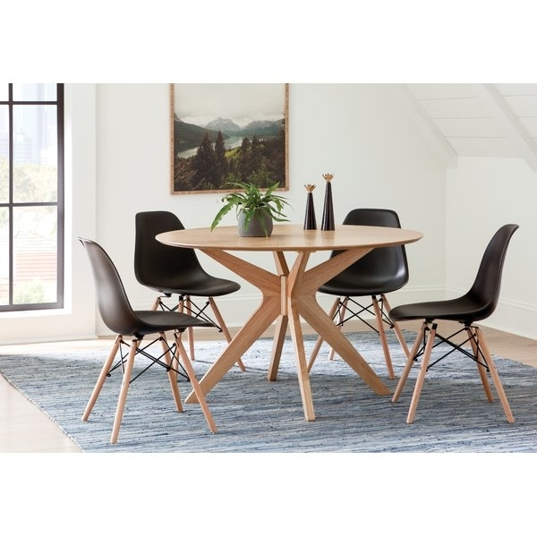 Crystal Dining Set | Wayfair In Caira Black 5 Piece Round Dining Sets With Upholstered Side Chairs (Image 11 of 25)
