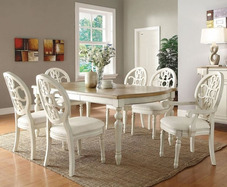 Crystal Grand White 4 Seater Glass Top Dining Table Set – Woodys Inside White Dining Tables Sets (Image 7 of 25)