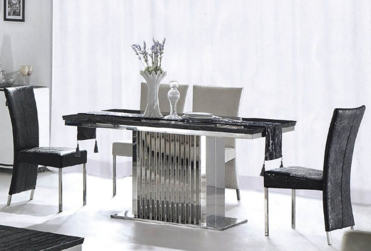 Ct845 8 Seater Marble Dining Table Cross Leg Queen Anne Table Legs Throughout Black 8 Seater Dining Tables (Image 11 of 25)