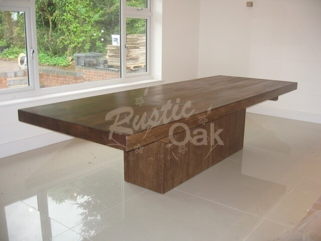 Cube Based Dining Table – Rustic Oak With Cube Dining Tables (Image 4 of 25)