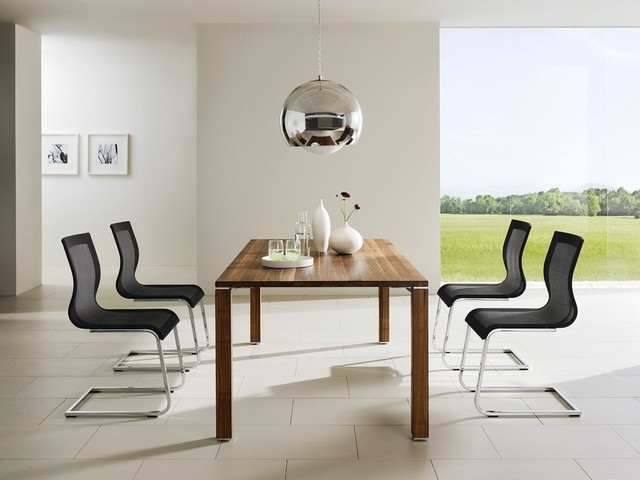 Cubis T1 Dining Table And Luxury Ergonomic Dining Chairs Within Contemporary Dining Room Chairs (Image 11 of 25)
