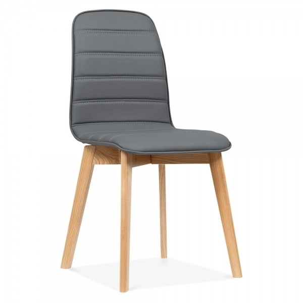 Cult Living Grey Meyer Faux Leather Dining Chair   Cult Furniture For Grey Leather Dining Chairs (Image 5 of 25)