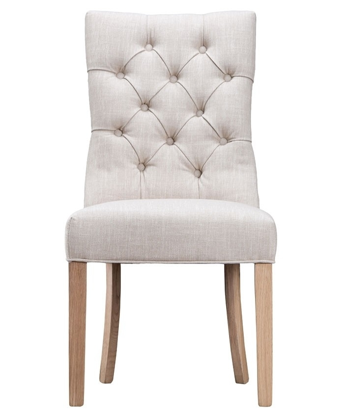 Curved Button Back Dining Chair – Brand Interiors Inside Button Back Dining Chairs (View 4 of 25)