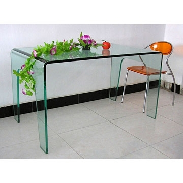 Curving Glass Dining Table inside Curved Glass Dining Tables