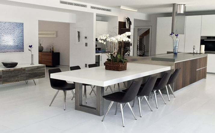Custom Concrete Kitchen & Dining Tables – Trueform With Regard To Edmonton Dining Tables (View 20 of 25)
