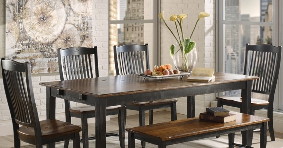 Custom Dining Room Furniture | Saugerties Furniture Mart Throughout Weaver Ii Dining Tables (Image 5 of 25)