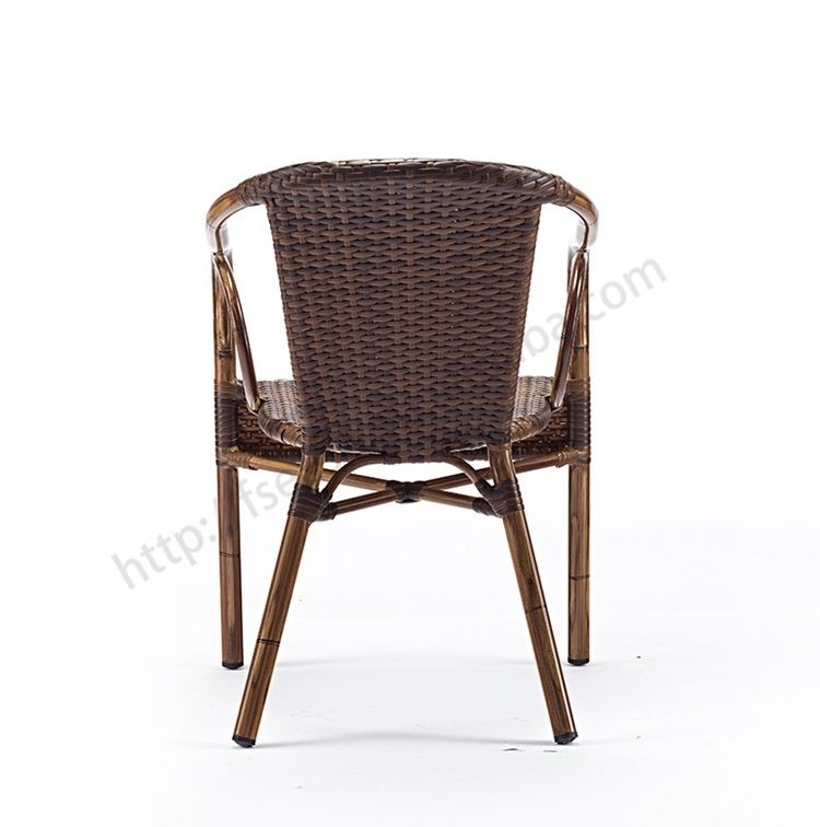 Custom Engineering Handsome Non Wood Aluminum Resin Rattan Dining Throughout Non Wood Dining Tables (Image 4 of 25)