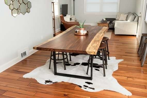Custom Live Edge Acacia Dining Table   Etsy For Acacia Dining Tables (View 16 of 25)