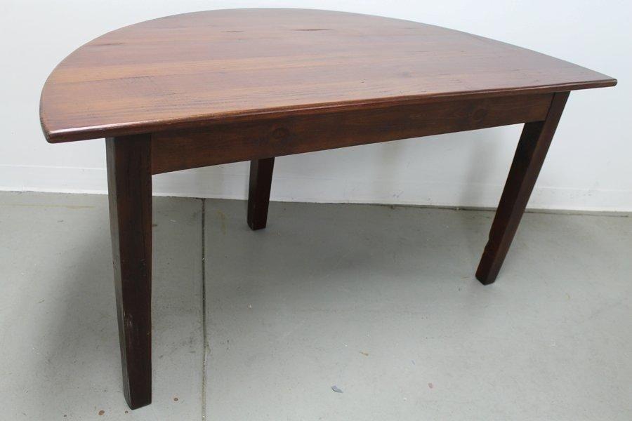 Custom Made Small Half Circle Dining Tableecustomfinishes Inside Circle Dining Tables (Image 8 of 25)
