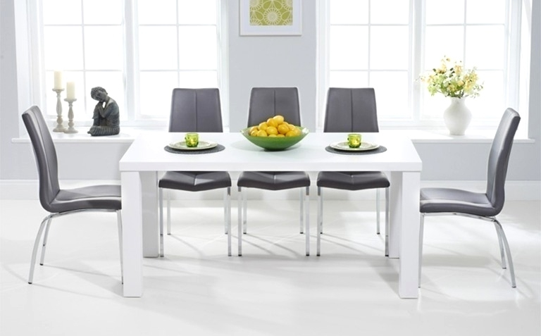 Cute Grey And White Dining Table   Bathroom Ideas Pertaining To Next White Dining Tables (Image 7 of 25)