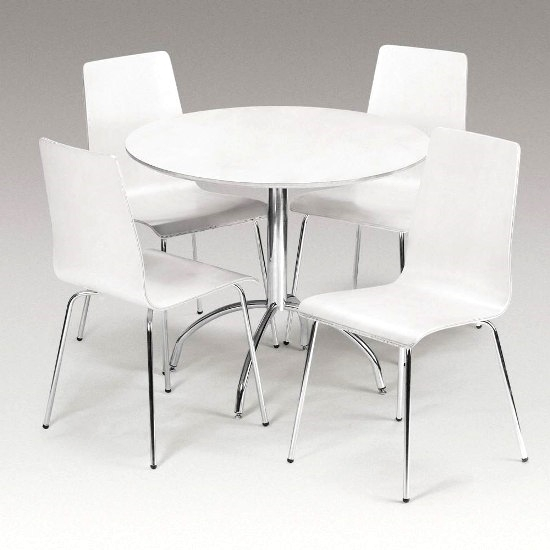 Cute Round Dining Table And Chairs White Info | Bathroom Ideas Regarding White Circle Dining Tables (View 16 of 25)
