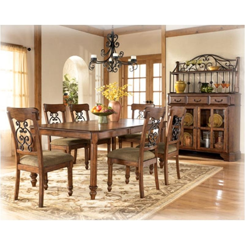 D429 35 Ashley Furniture Wyatt Dining Room Rectangular Ext Table Regarding Wyatt Dining Tables (View 14 of 25)