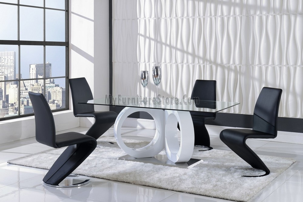 D9002Dt Global Stylish Dining Set With Stylish Dining Chairs (Image 6 of 25)