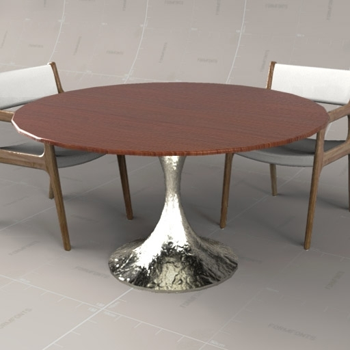 Dakota Circular Table 3D Model – Formfonts 3D Models & Textures With Regard To Chichester Dining Tables (View 17 of 25)