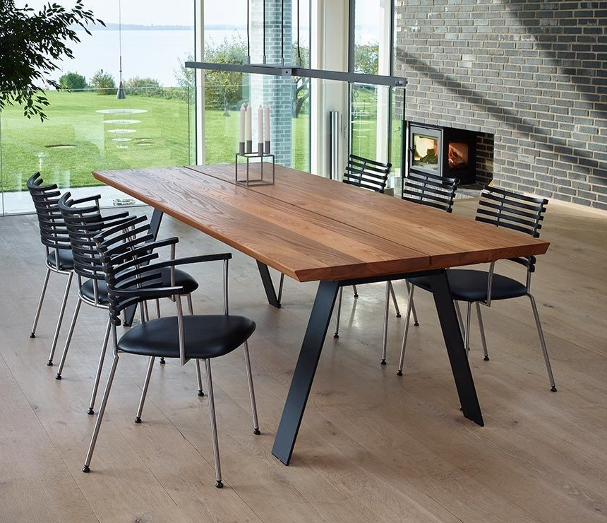 Danish Elm Dining Table With Angular Legs | Tables | Pinterest Inside Natural Wood & Recycled Elm 87 Inch Dining Tables (Image 2 of 25)