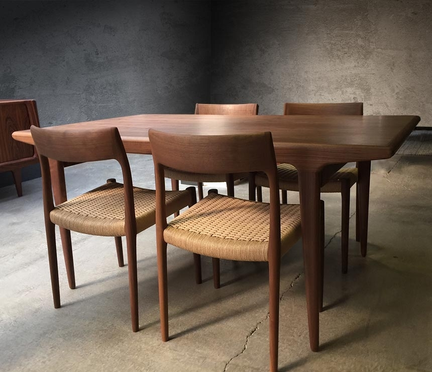 Danish Mid Century #10 Dining Table | Wharfside Intended For Danish Dining Tables (View 11 of 25)