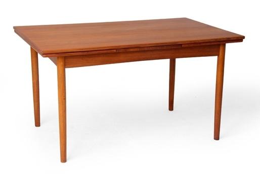 Danish Mid Century Modern Teak Expandable Dining Table Pertaining To Danish Dining Tables (Image 14 of 25)