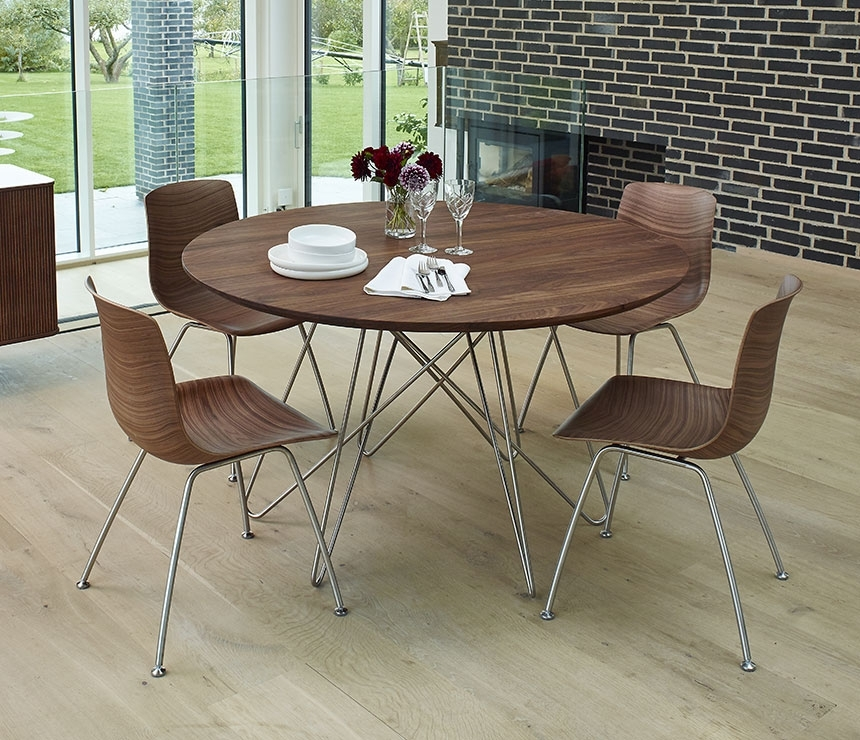 Danish Modern Round Table | Dining Furniture | Wharfside Pertaining To Non Wood Dining Tables (Image 5 of 25)