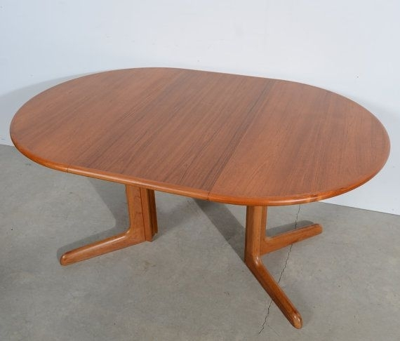 Danish Modern Round Teak Dining Table Teak Pedestal Table Gudme With Regard To Round Teak Dining Tables (View 21 of 25)
