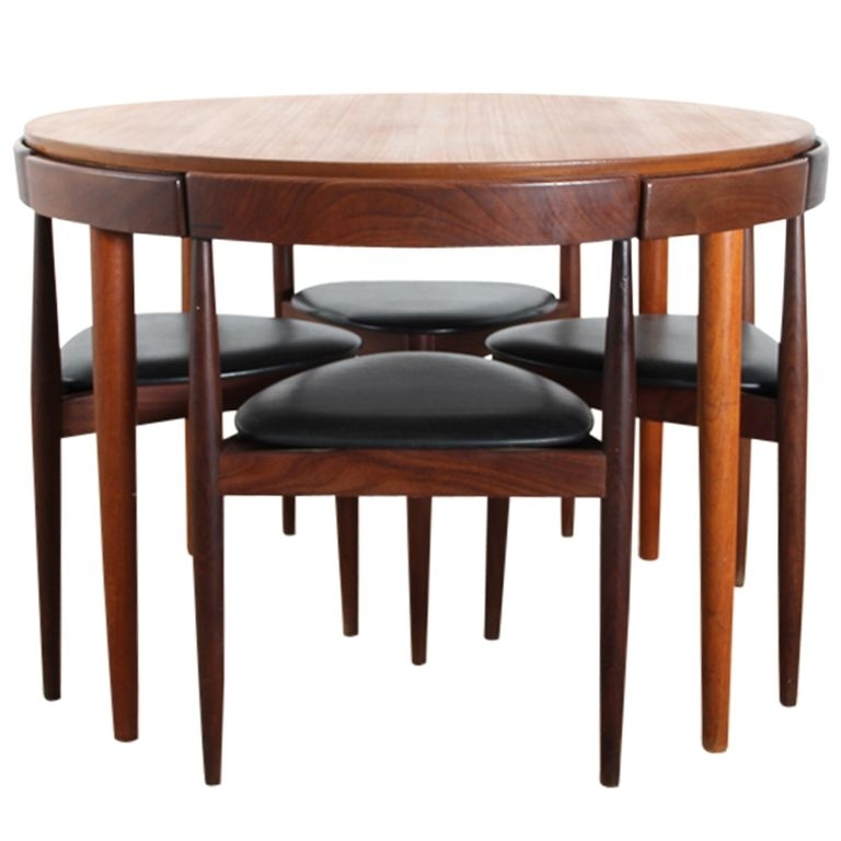 Danish Teak Dining Set For Fourhans Olsen | Mid Century Modern For Compact Dining Sets (View 12 of 25)