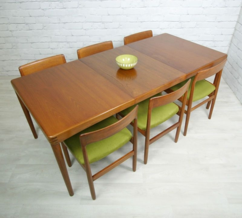 Danish Teak Retro Vintage Mid Century Extending Danish Dining Table For Retro Extending Dining Tables (View 18 of 25)