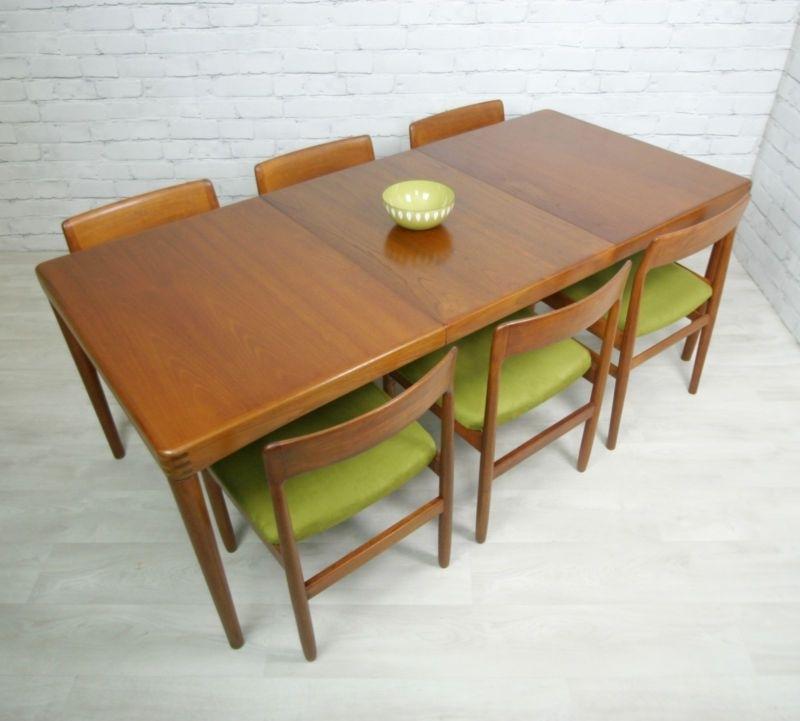 Danish Teak Retro Vintage Mid Century Extending Danish Dining Table For Retro Extending Dining Tables (Image 6 of 25)